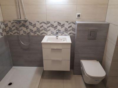 Płytki w małej łazience - stan deweloperski